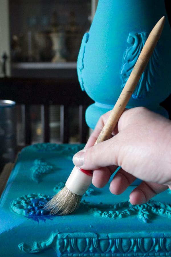 Jewel Tones Painted Furniture Finish Sapphire Application